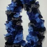 Echarpe Cancan Bleu nuit et bleu clair