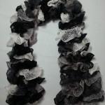 Echarpe Cancan Noir, gris et blanc