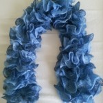 Echarpe Cancan bleu clair et foncé