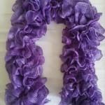 Echarpe Cancan violet