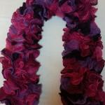Echarpes Cancan violet et fushia