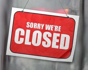 pancarte pour indiqué que le magasin est fermé